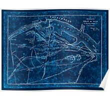 Civil War Maps 1660 Sketch of the seat of war in Alexandria Fairfax Cos by V P Corbett Inverted Poster