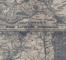 Civil War Maps 1908 War maps and diagrams Sticker