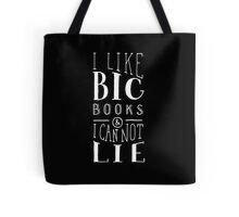 I Like Big Books (Black) Tote Bag