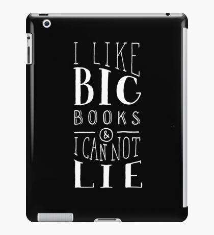 I Like Big Books (Black) iPad Case/Skin