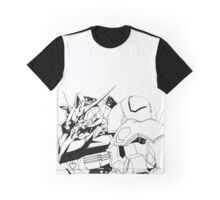 Gundam Barbatos Black and White Graphic T-Shirt