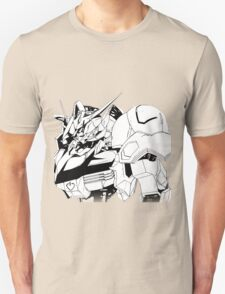 Gundam Barbatos Black and White Unisex T-Shirt