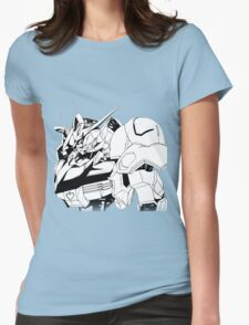 Gundam Barbatos Black and White Womens Fitted T-Shirt