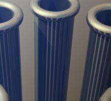 Eight Metallic Tubes Sticker