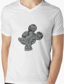 Mouse Zentangle Mens V-Neck T-Shirt