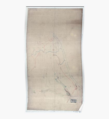 Civil War Maps 1932 An unfinished drawing of the battle of Fredericksburg Saturday December 13 1862 Poster
