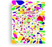 Elementary/Primary school paint professional Canvas Print
