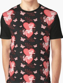 Butterfly Hearts .. Tee Shirt Graphic T-Shirt