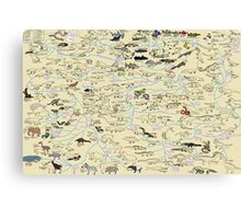 Cartoon Guide to Vertebrate Evolution Canvas Print