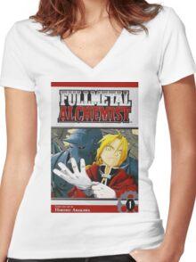 Fullmetal Alchemist Women's Fitted V-Neck T-Shirt