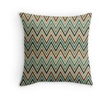 Chevron Seamless Pattern in Nature Color Palette Throw Pillow