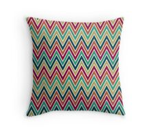 Chevron Seamless Pattern in Festive Color Palette Throw Pillow