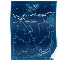Civil War Maps 1122 Middle Tennessee Inverted Poster