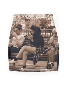 Ladies at lunch time in the Treasury Gardens Melboune Mini Skirt