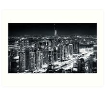 Jumeirah Lake Towers Art Print