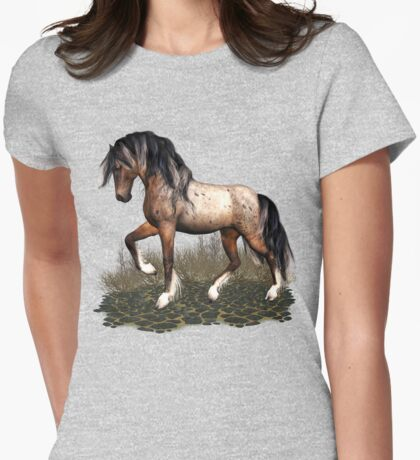 Appaloosa Mustang  Womens Fitted T-Shirt