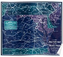 Civil War Maps 0016 A new military map of the seat of war Inverted Poster