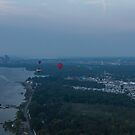 A Slightly Foggy Sunrise Liftoff - Hot Air Balloons Over Ottawa by Georgia Mizuleva