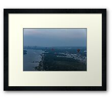 A Slightly Foggy Sunrise Liftoff - Hot Air Balloons Over Ottawa Framed Print