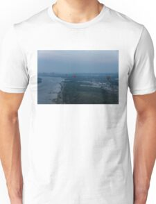 A Slightly Foggy Sunrise Liftoff - Hot Air Balloons Over Ottawa Unisex T-Shirt