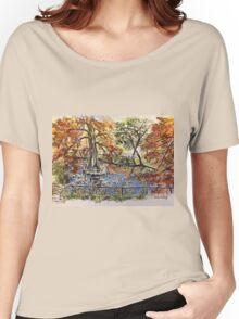 The Orto Botanico from the Lucca wall 2015 Women's Relaxed Fit T-Shirt