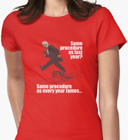 Dinner For One Same Procedure As Every Year T-shirt Womens Fitted T-Shirt