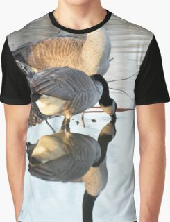 Reflective Geese Graphic T-Shirt