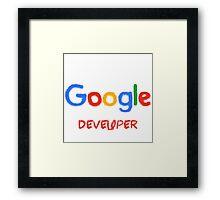 Crayon Google Developer Framed Print