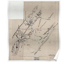 Civil War Maps 1846 Topographical sketch of a portion of the North Mountain Range the Valley of Virginia Poster