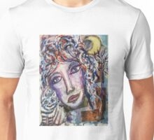 Wise Woman and her Young Familiar Unisex T-Shirt