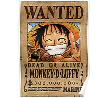 Wanted Luffy - One Piece  Poster