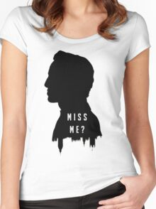 Sherlock Holmes Jim Moriarty Miss me Women's Fitted Scoop T-Shirt