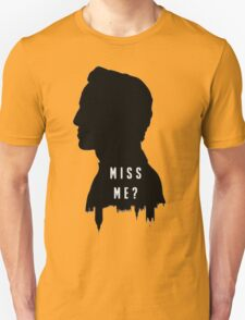 Sherlock Holmes Jim Moriarty Miss me T-Shirt