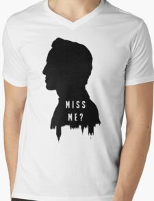 Sherlock Holmes Jim Moriarty Miss me Mens V-Neck T-Shirt