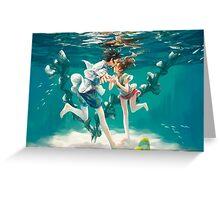 Haku and Chihiro - Spirited Away Greeting Card