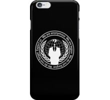 Anonymous seal  iPhone Case/Skin