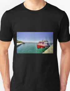 Red Boat at Nafplion Harbour T-Shirt