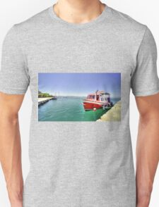 Red Boat at Nafplion Harbour Unisex T-Shirt