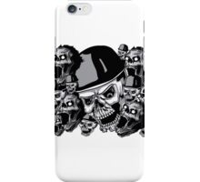 Zombies in black and white collage iPhone Case/Skin