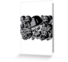 Zombies in black and white collage Greeting Card