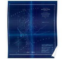 Civil War Maps 1474 Preliminary chart of Hatteras Inlet North Carolina Inverted Poster