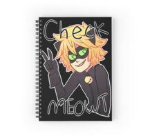 Check Meowt! Cat Noir Notebook Spiral Notebook