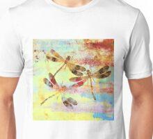 Mauritius Vintage Dragonflies Colours S Unisex T-Shirt