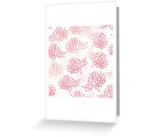Red and pink coral contours seamless vector pattern Greeting Card