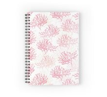 Red and pink coral contours seamless vector pattern Spiral Notebook