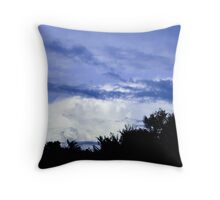 Dark Blue Sky Throw Pillow