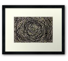 Abstract Jackson Pollock Painting Titled: Rabbit Hole  Framed Print