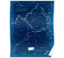 Civil War Maps 0023 Across Kentucky Inverted Poster