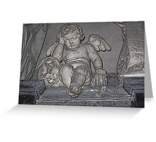 France. Amiens. Amiens Cathedral. Weeping Angel. Greeting Card