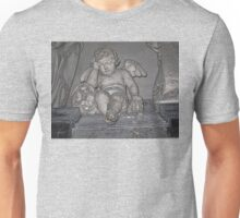 France. Amiens. Amiens Cathedral. Weeping Angel. Unisex T-Shirt
